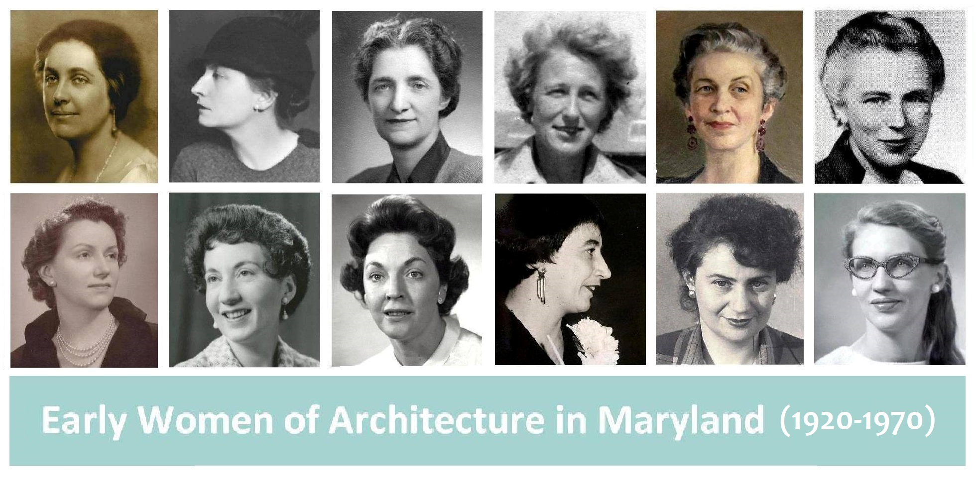 portraits of women in architecture
