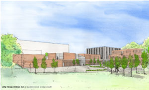 watercolor of project exterior