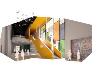rendering of school interior