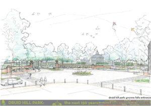 Druid Hill Park rendering