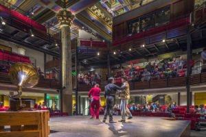 Interior of Shakespeare theater