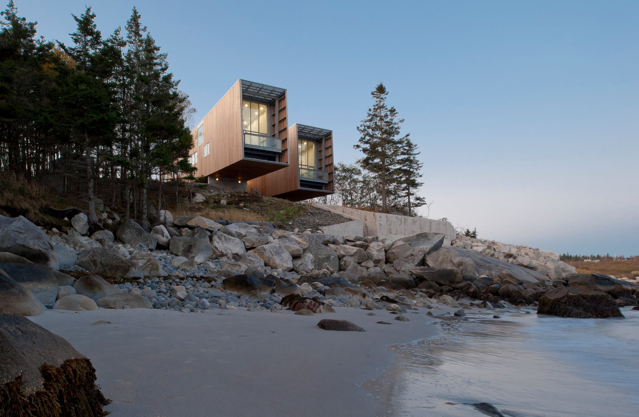 Two Hull Houses - Nova Scotia, Canada - photo courtesy of MacKay-Lyons Sweetapple Architects Ltd.