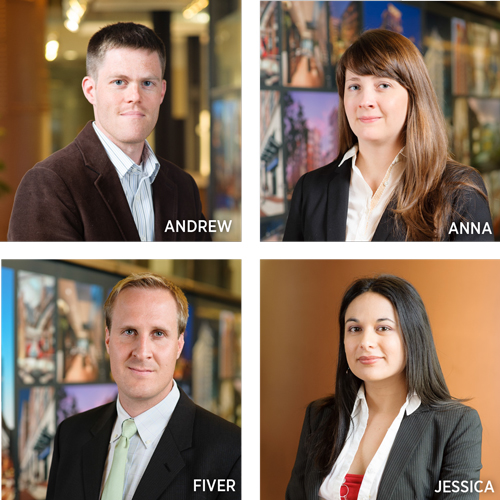 headshots of promoted associates