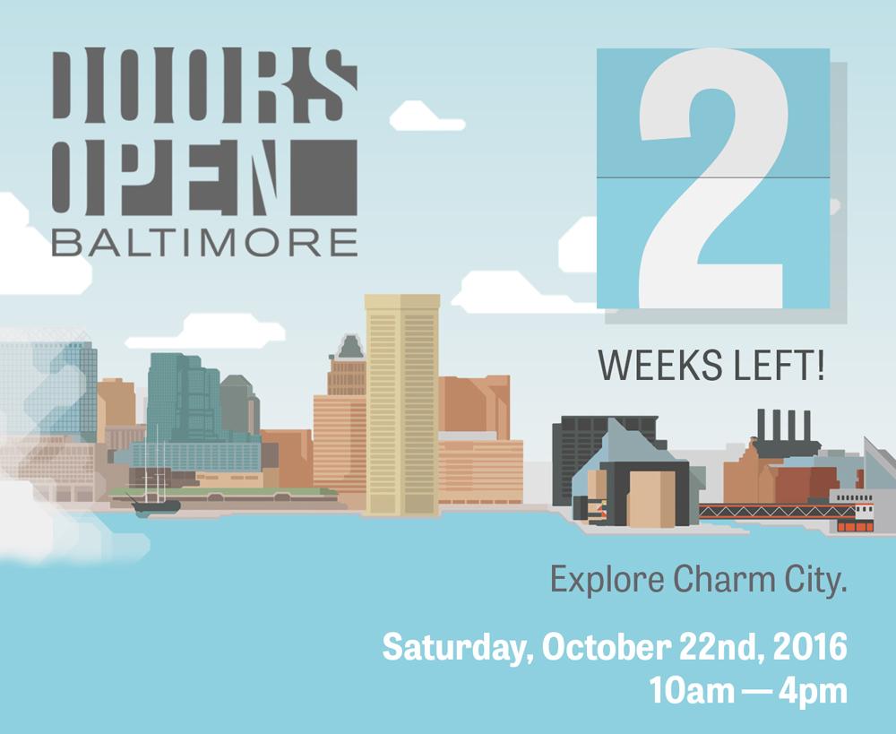 2 weeks notice Doors Open Baltimore