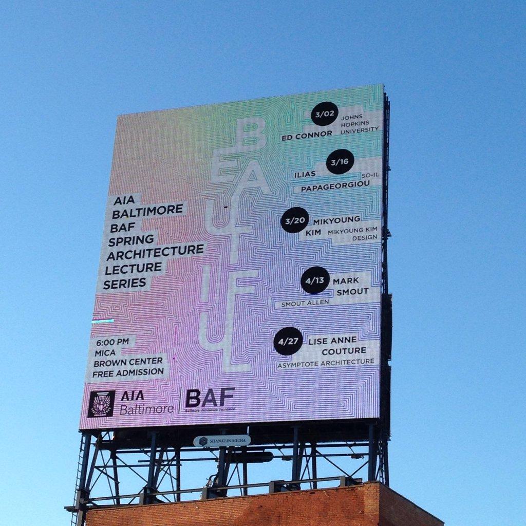 billboard promoting series on Charles Street